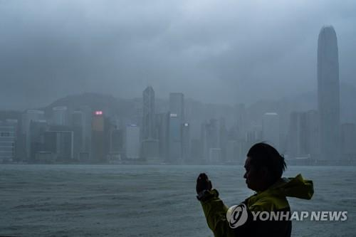 홍콩을 강타한 슈퍼 태풍 '망쿳'[AFP=연합뉴스]