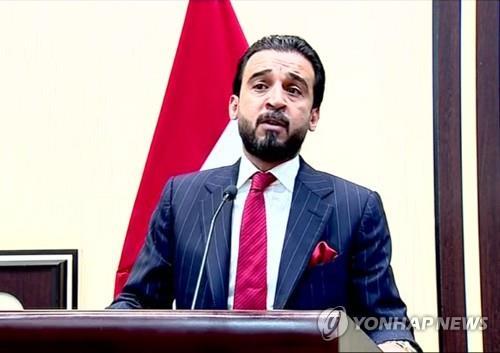 이라크 의회 신임 의장 무함마드 알할부시[AFP=연합뉴스 자료사진]
