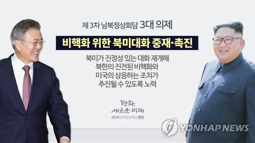 제3차 남북정상회담 3대의제 - 비핵화위한 북미대화 중재.촉진(CG)
