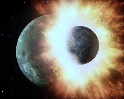 지구형 행성, 초기 '히트앤드런' 충돌 과정서 물 확보