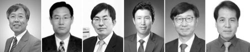 유룡·선양국·윤주영·조재필·박남규·석상일 교수(왼쪽부터)