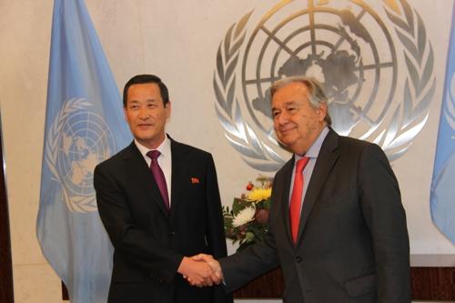 김성 유엔 북한대사 업무 개시…유엔과 협력해 일하기를 기대(종합)