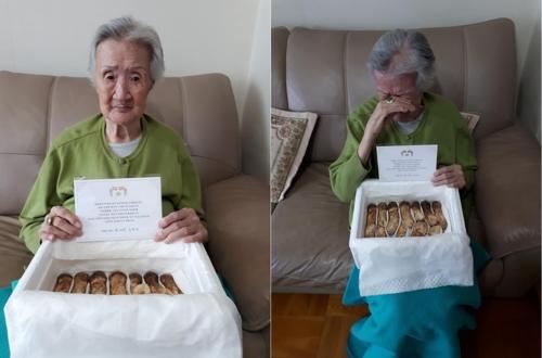 68년전 가족과 생이별 94세 할머니, 北서 온 송이버섯에 '눈물'