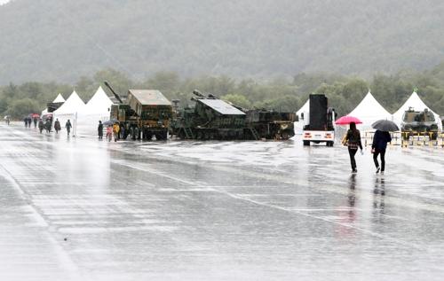 태풍 영향으로 육군 지상군페스티벌 차질…축제 일시중단