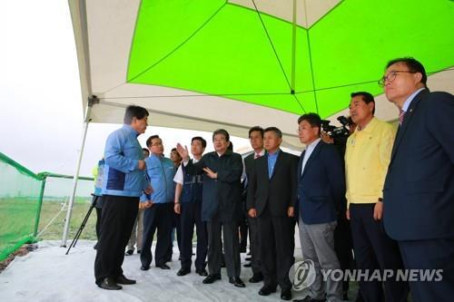 신한울원전 예정부지 둘러보는 한국당 의원