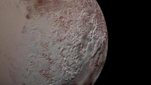 명왕성의 칼날 같은 표면