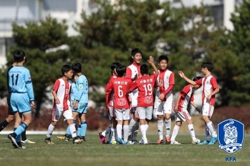 2017년 대교눈높이 전국 초등학교 축구리그 왕중왕전에 참가했던 신정초등 선수들