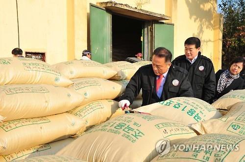 쌀 등급 평가 현장