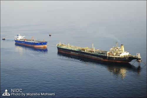 이란의 해상 저유선[이란 국영석유회사]