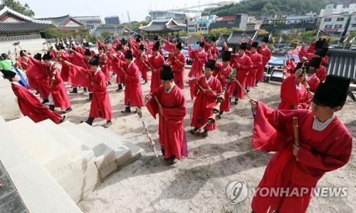 인천 도호부대제[연합뉴스 자료사진]