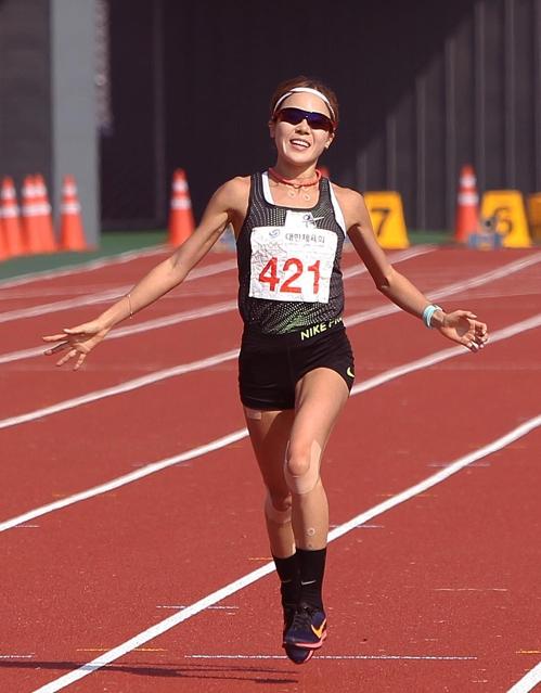 전국체전 여자 마라톤 우승한 안별