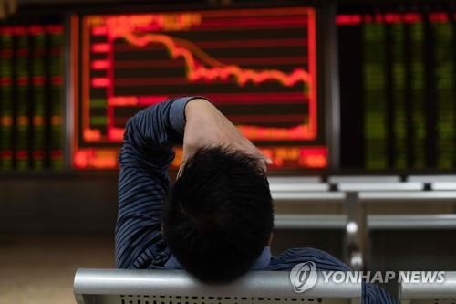 경기둔화 우려 속 中증시 4년만에 최저수준 추락