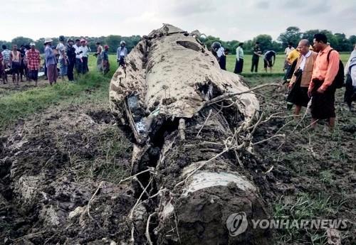 미얀마서 전투기 잇따라 추락…조종사 2명·10세 소녀 사망