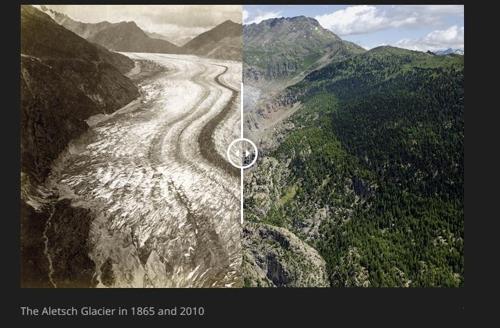 사라지는 스위스 빙하…더운 여름 탓 10년간 20% 녹아