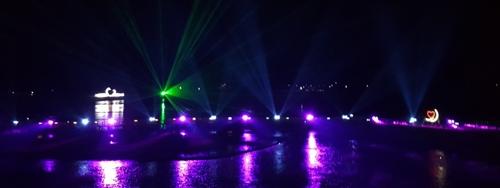 강진만 춤추는 갈대밭서 레이저 쇼…가을밤 수놓는다