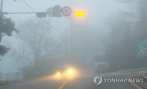 대전·충남 출근길 안개 주의…미세먼지 보통