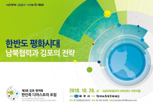 [김포소식] '제3회 한민족 디아스포라 포럼' 26일 개최