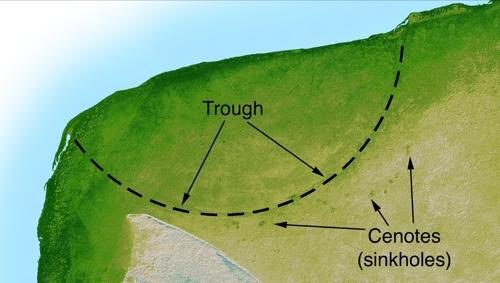 멕시코 유카탄반도의 칙슬루브 충돌구.