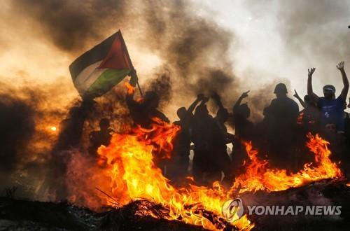 팔레스타인 가자지구 시위[AFP=연합뉴스]