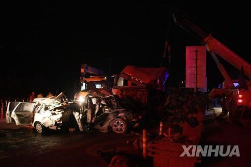 중국 고속도로 요금소서 31중 추돌 사고…14명 사망 34명 부상