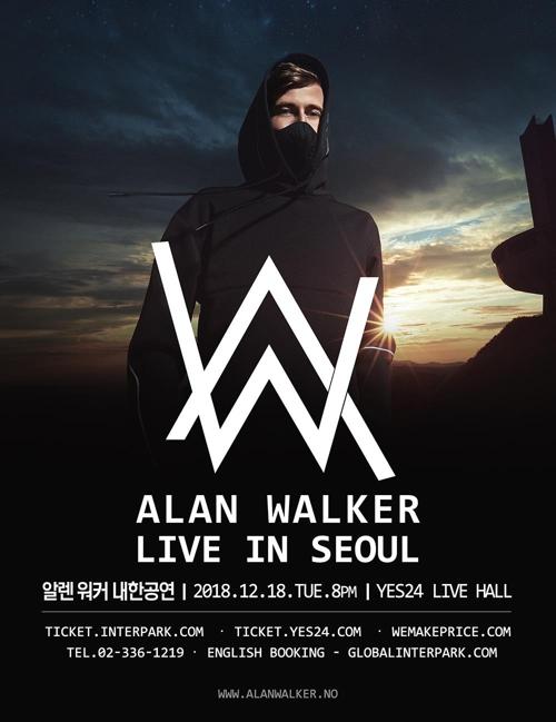 'EDM 스타' 앨런 워커 12월 내한 단독공연