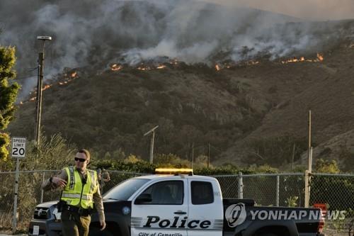 북 캘리포니아 휘감은 대형 산불
