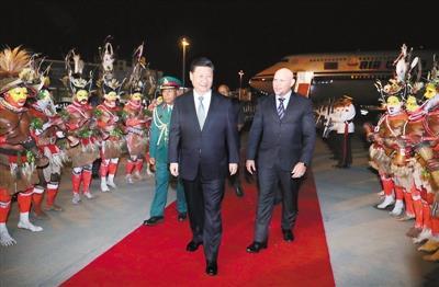 시진핑, 파푸아뉴기니 도착…'아군확보 외교전' 개시