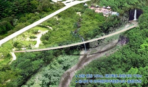 한탄강 명소 재인폭포 공원화…전망대·출렁다리 등 설치