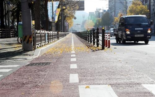 1시간 10대도 안 다녀 외면받는 부산 도심 자전거 도로