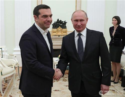"""푸틴, 방러 그리스 총리와 회담…""""에너지 중심 협력 강화키로"""""""