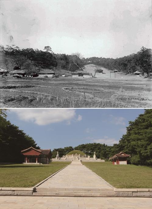 개성 왕건릉은 100년 사이에 어떻게 변했을까