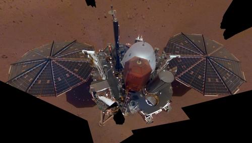 화성 안착 인사이트호 완전한 모습 드러낸 사진 공개