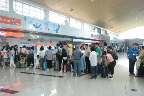 무안국제공항 국제선 이용객, 작년보다 104.9% 증가