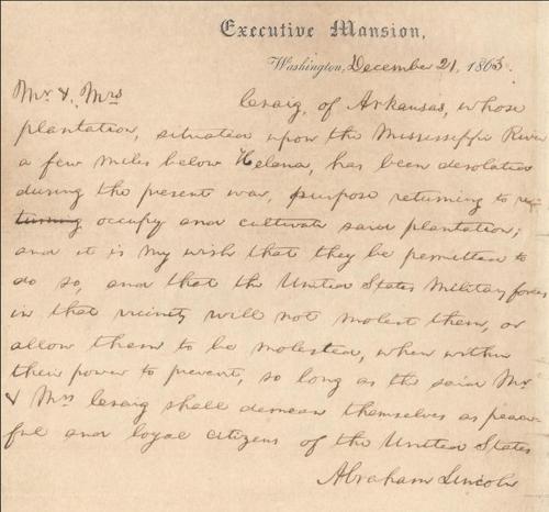 美남부군에 '처가 안전보장' 요청한 링컨의 손편지, 매물로