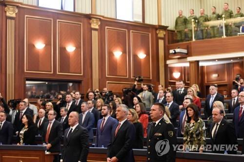코소보 의회, 정규군 창설 법안 승인…세르비아 '격앙'