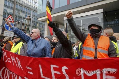 브뤼셀서도 3차 노란조끼 집회…규모 줄고 평화롭게 진행