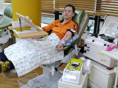 고된 업무에도 50∼289회 헌혈…생명 나눈 소방관들