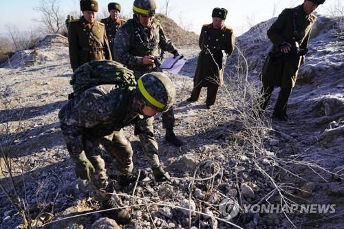 """軍 """"北GP 완전파괴돼 불능화…주변 총안구 일부 미확인""""(종합)"""