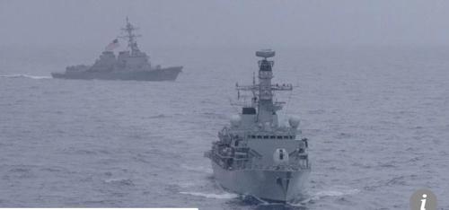 중국 보란 듯…미·영 해군, 남중국해 합동 훈련