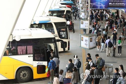 충북도 설 교통대책 마련…고속버스 180회 증편