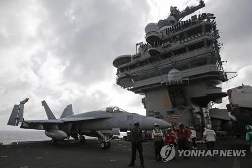 """美 12년만에 대만해협 항모 투입 가능성 시사…""""제약 없어"""""""