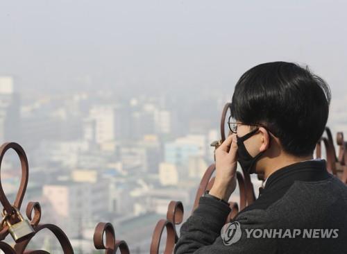 미세먼지에 포위된 주말…충북 관광지 '한산'