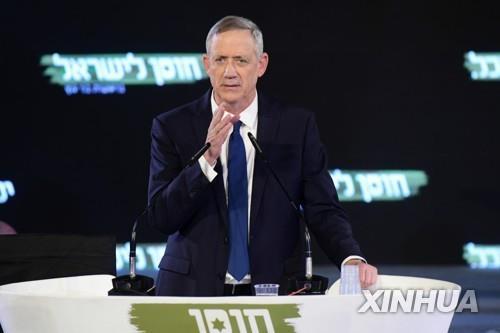 이스라엘 총리직 도전 야당인사, '팔레스타인 점령지 철수' 거론