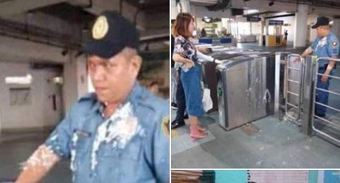 푸딩 투척 '무례한' 중국 여대생, 필리핀서 추방될 듯