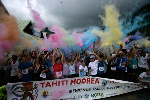 타히티에서 열리는 이색 마라톤 대회