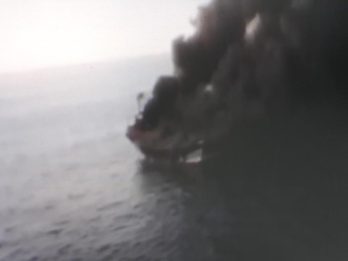 경주 앞바다 어선 불…선원 4명 표류하다 해경에 모두 구조