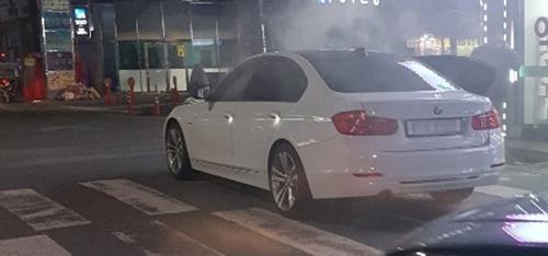전남 화순서 정차 중 BMW 차량 화재