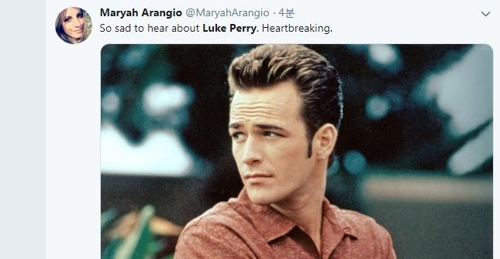 90년대 美인기드라마 베벌리힐스의 아이들 루크 페리 별세