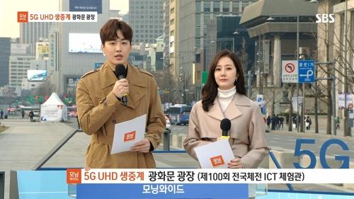 SBS 모닝와이드, 5G 기반 UHD 생방송