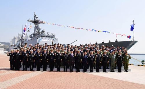 아덴만 해역 수호 '청해부대 파병 10주년' 기념식